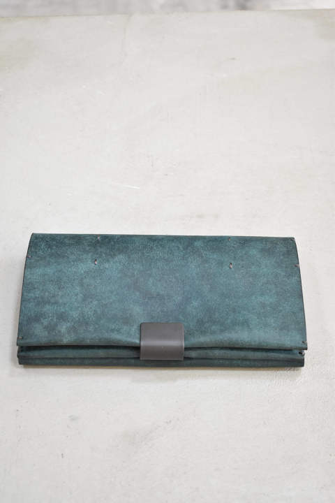 Cow Leather Long Wallet【グリーン】