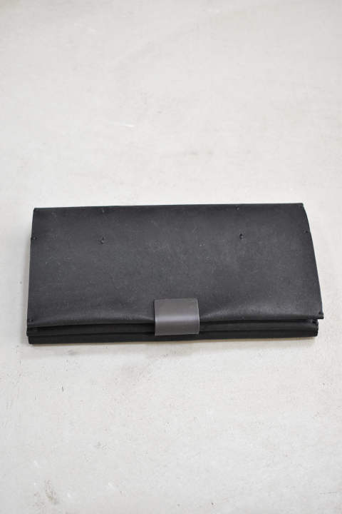 Cow Leather Long Wallet【ブラック】