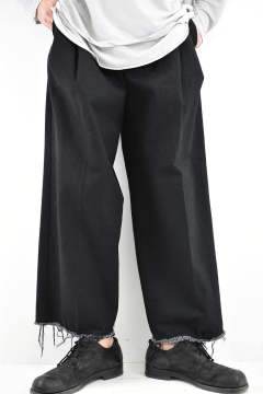 《残り1点!!》3Tuck Denim Trousers【Black】