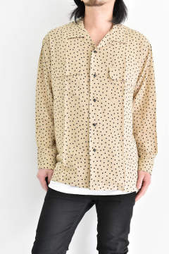 "Open shirt ""dot/Beige"""