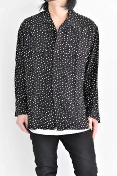 "《ラスト1点!!》Open shirt ""dot/Black"""