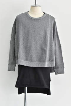 "Wide pullover""Gray""/レディースアイテム"