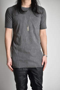 "Dyed Over Lock Tee""Grey""/ダイオーバーロックTee""グレー"""
