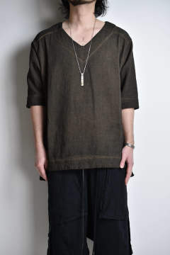 "V-Neck Top""Persimmon Dye""/Vネックトップ""柿渋"""